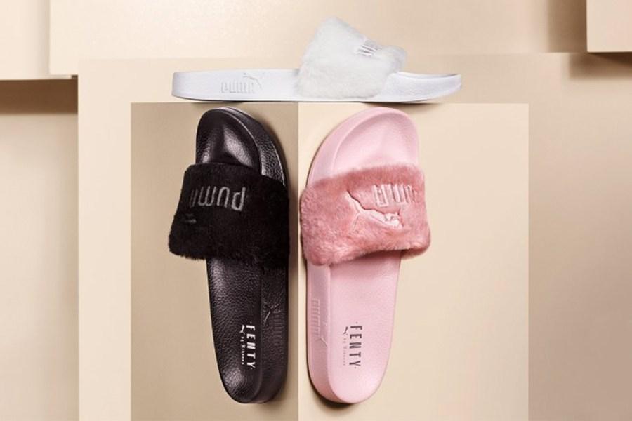 af3bb48330c Des Puma Fur Slides de Rihanna vendues sur Ebay au prix de 1000