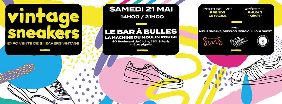 21/5 – VINTAGE SNEAKERS : le vide dressing des sneakeraddict parisiens !