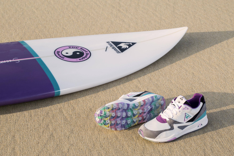 La LCS R800 de Le Coq Sportif x Town & Country Surf Designs