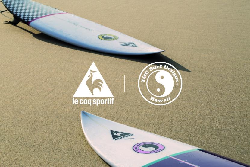 Le Coq Sportif x Town & Country Surf Designs : Ca sent l'été