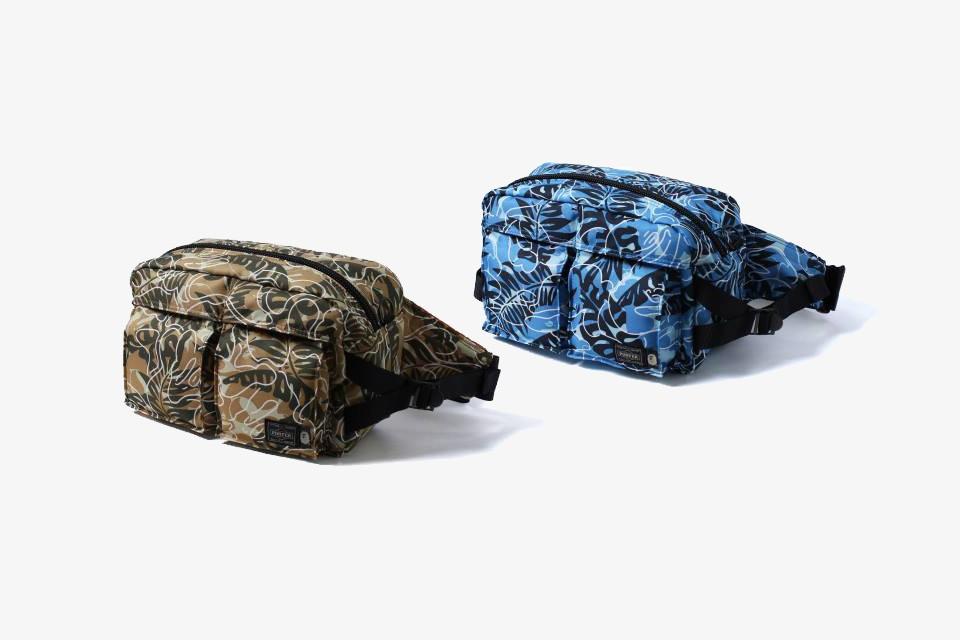 La sacoche à motifs camouflage-tropical de Bape x PORTER