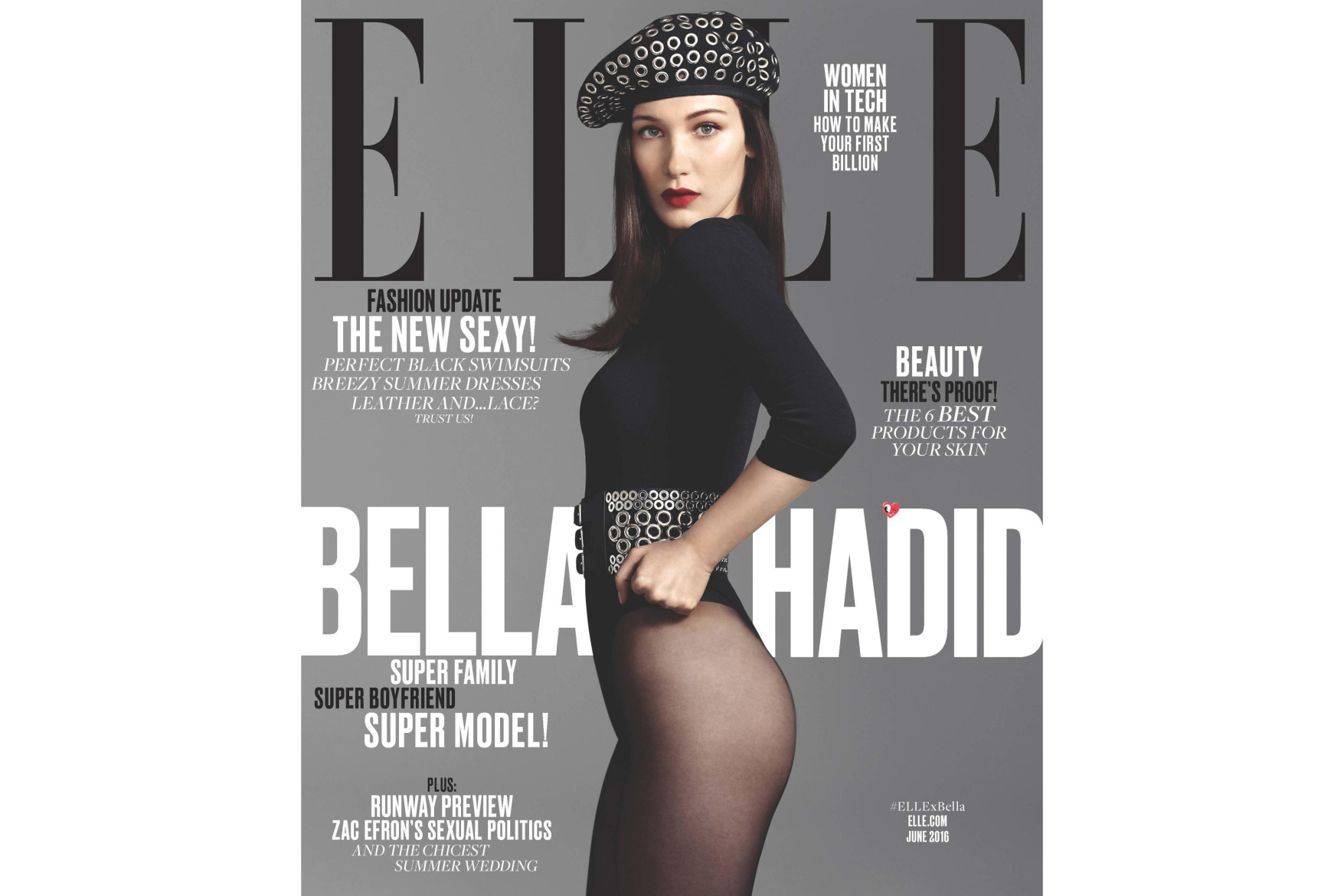 Bella Hadid terriblement séduisante pour le ELLE américain