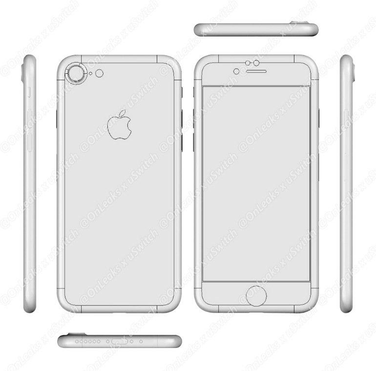 La maquette de l'iPhone 7 dévoilée par OnLeaks