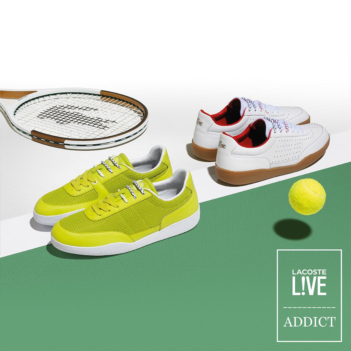 Lacoste L!VE collabore avec Addict Miami pour deux sneakers inédites !