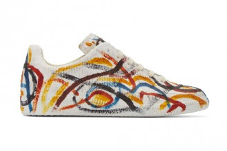 La Multicolor Chalk Replica Sneakers de Maison Margi