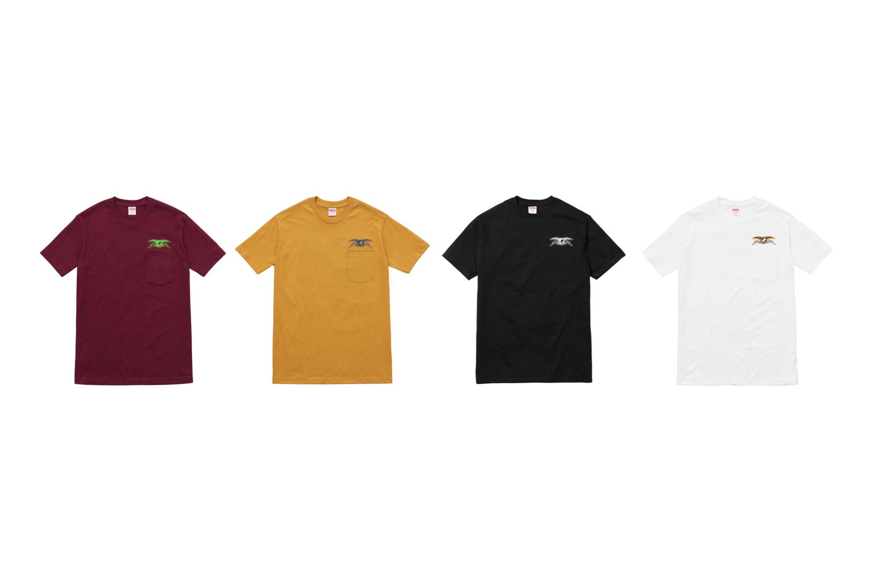 La collection Supreme x ANTI HERO de 2016