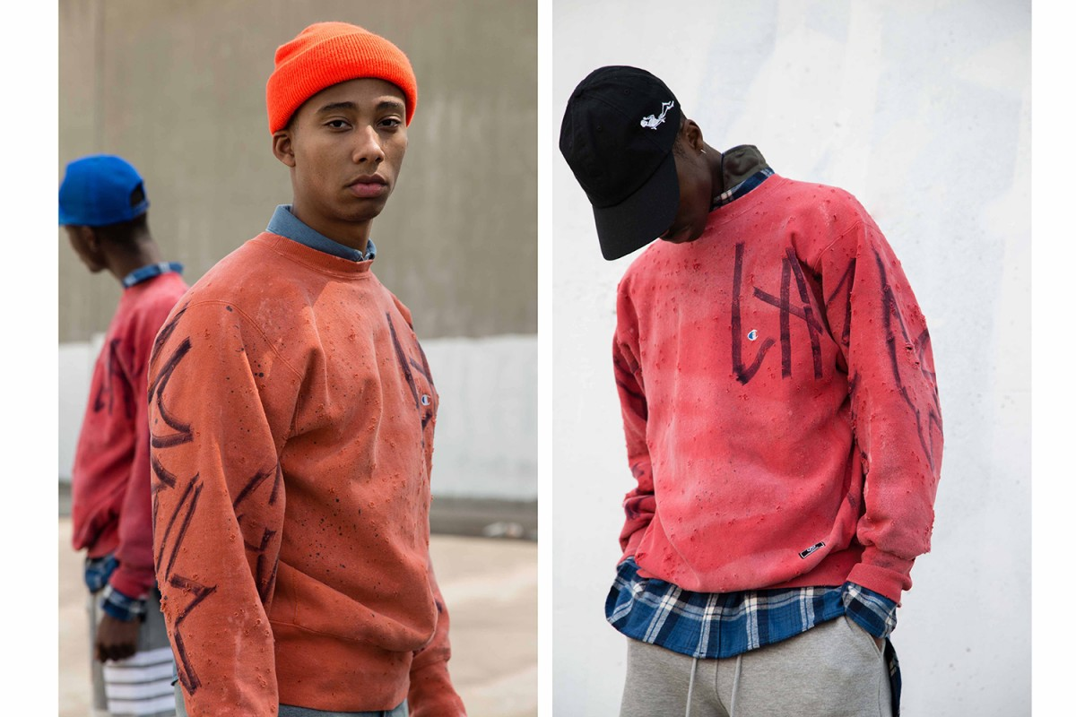 Union L.A x US Alteration: Des sweatshirts Champion sous acide