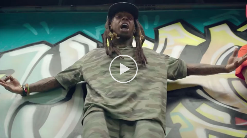 Lil Wayne sort sa board pour son nouveau clip « Skate It Off »