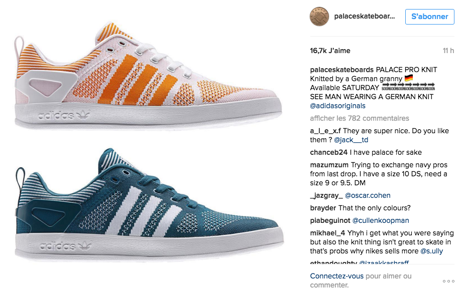 La collaboration d'Adidas et Palace