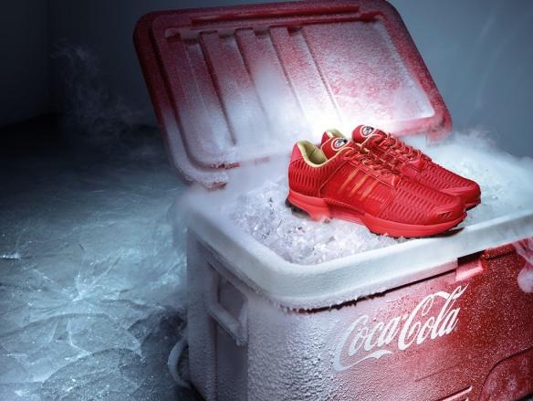 Restez cool en toutes circonstances avec les sneakers Adidas ClimaCool 1, réalisées en partenariat avec Coca-Cola, et vendues en exclusivité chez colette.