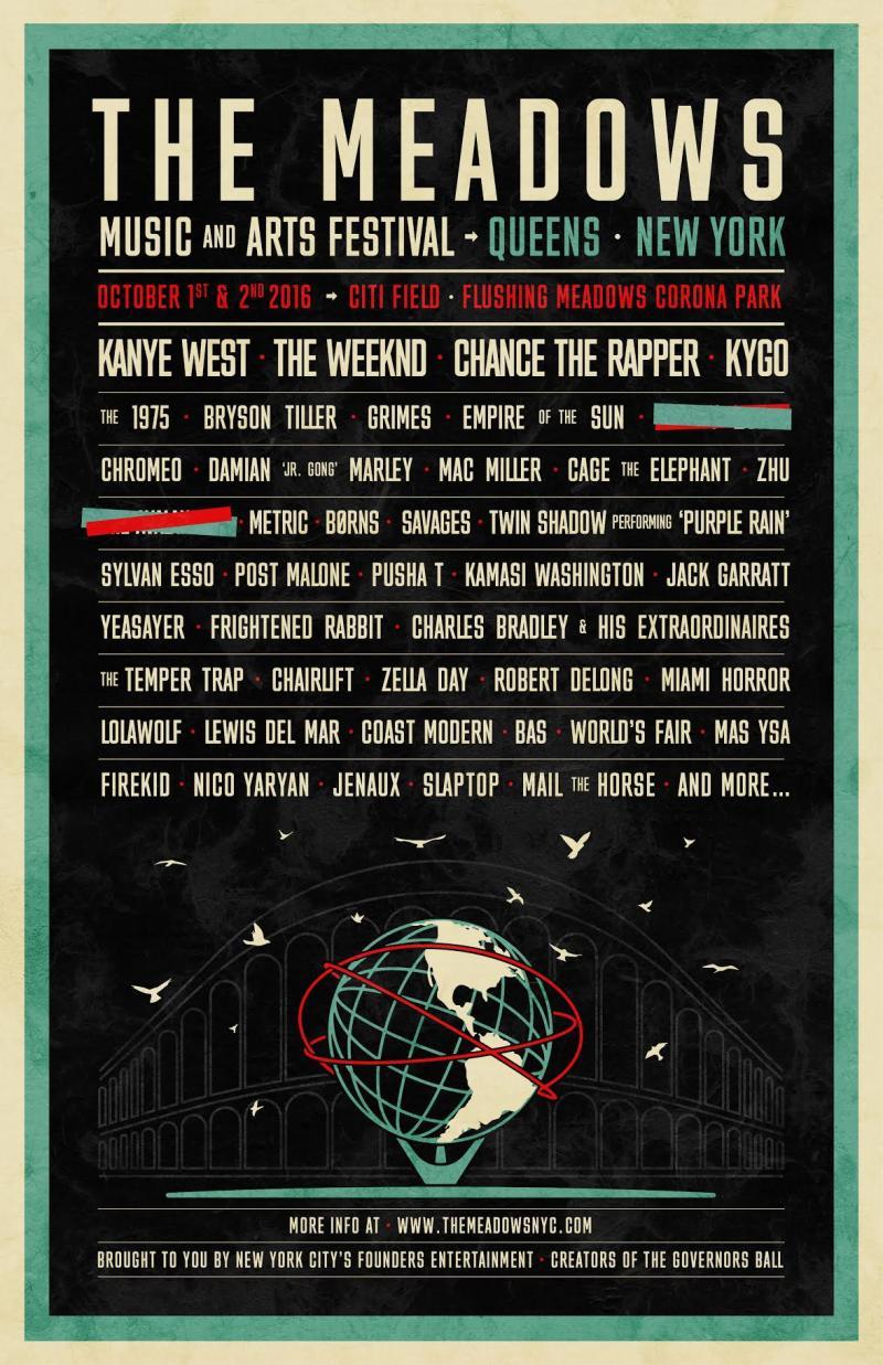 Kanye West participe au Meadows Music and Arts Festival de New York