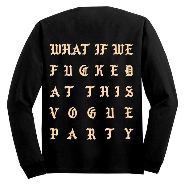 Kanye West sort un nouveau t-shirt, Vogue Party