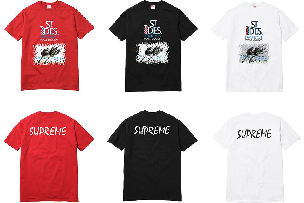 Supreme sort 5 nouveaux t-shirts