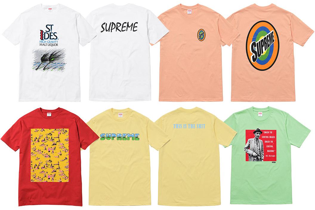 Supreme sort 5 nouveaux t-shirts.19