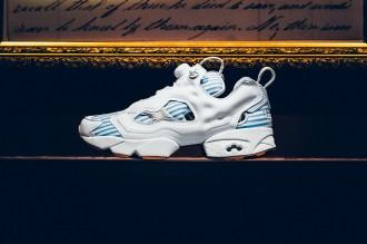 Vue du profil de la sneakers Reebok x Sneaker Politics