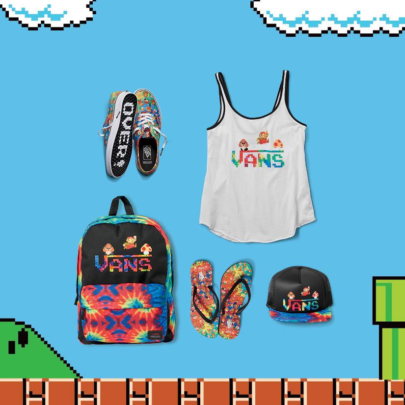 La collection de la collaboration Vans x Nintendo