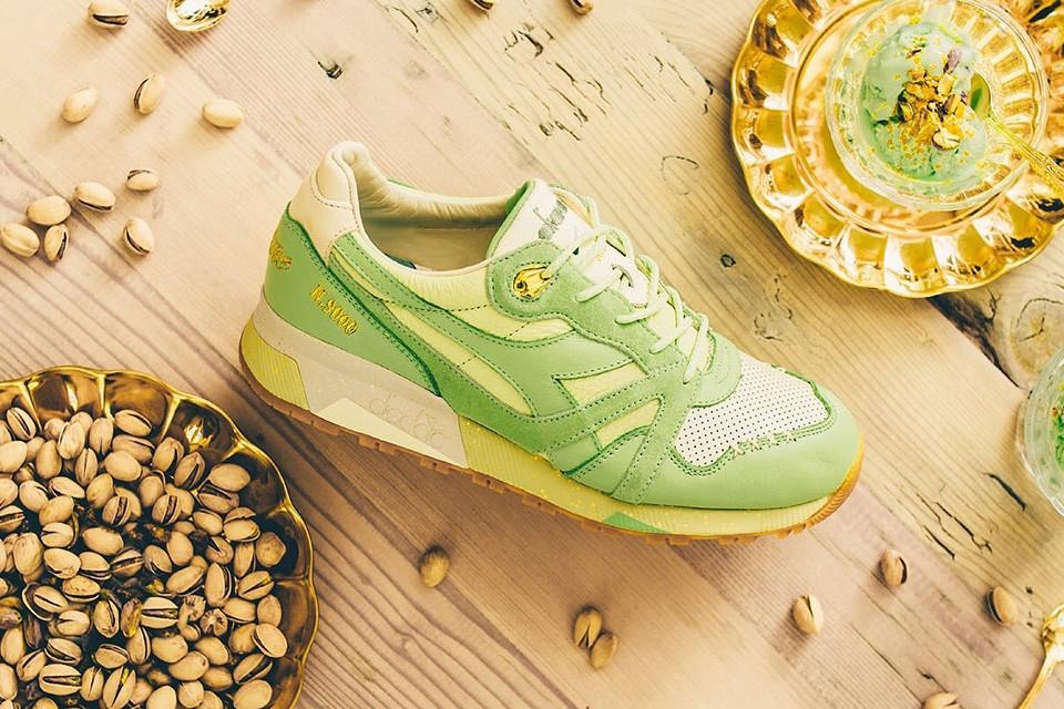 Feature x Diadora : une sneaker aux couleurs de la glace à la pistache