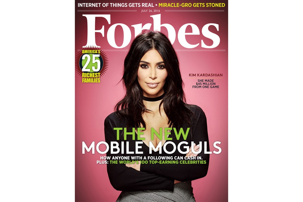 Kim Kardashian : business woman en couverture de Forbes
