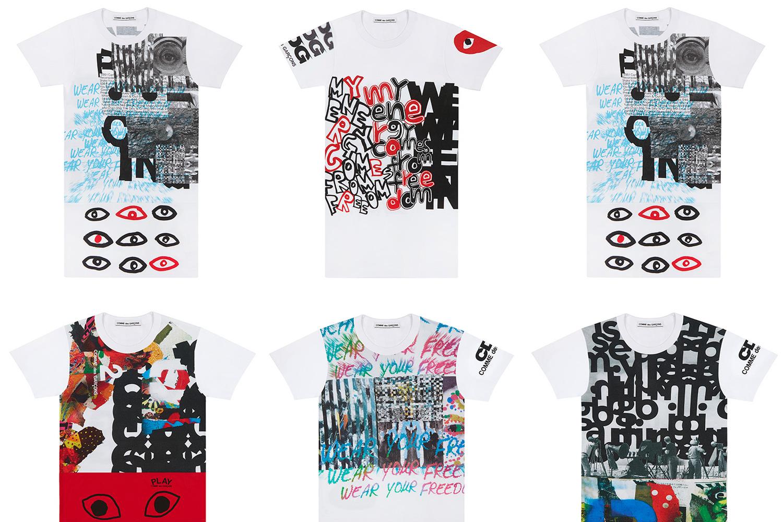 Comme des Garçons s'essaie au collage pour de nouveaux T-Shirts