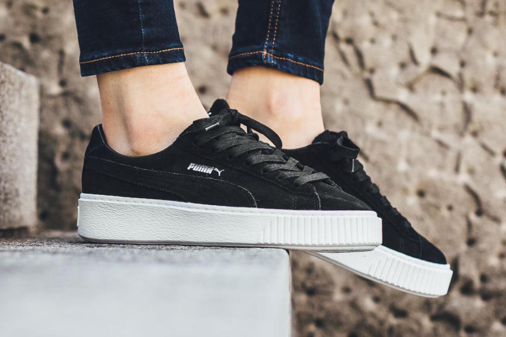 Puma Platform Suede Black