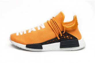 pharrell adidas nmd human race orange