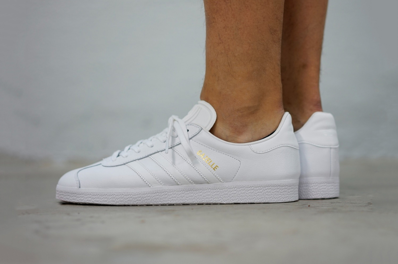 La Gazelle d'Adidas en coloris « Triple White »