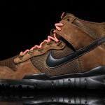 Nike SB dunk high boot brown