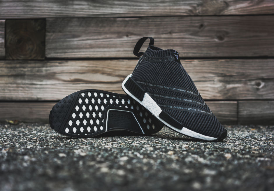 Découvrez la minimaliste White Mountaineering x adidas originals NMD City Sock