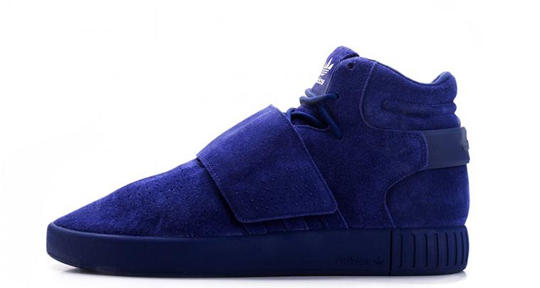 Découvrez la nouvelle adidas Tubular Strap «Blue Suede»