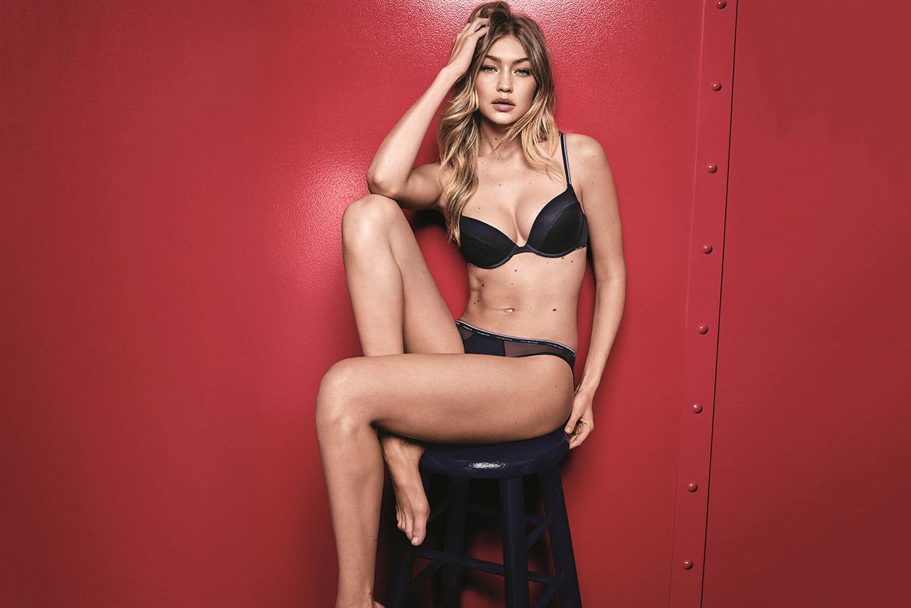Gigi Hadid au top pour la nouvelle campagne de lingerie par Tommy Hilfiger