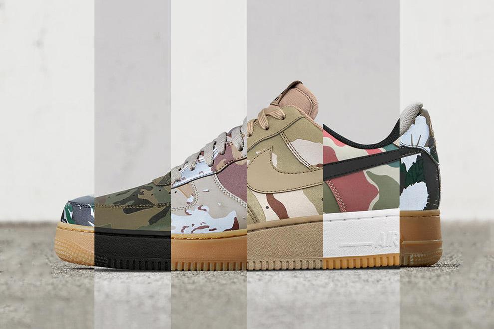 La Nike Air Force 1 Low revisitée en camo réfléchissant