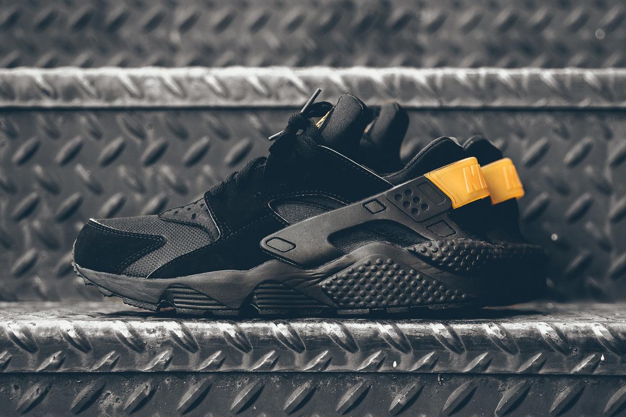 Découvrez ces superbes Nike Air Huarache «Black & Gold»