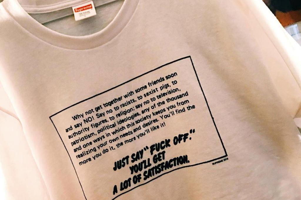 Supreme T-shirt politiquement engagé - TRENDS periodical