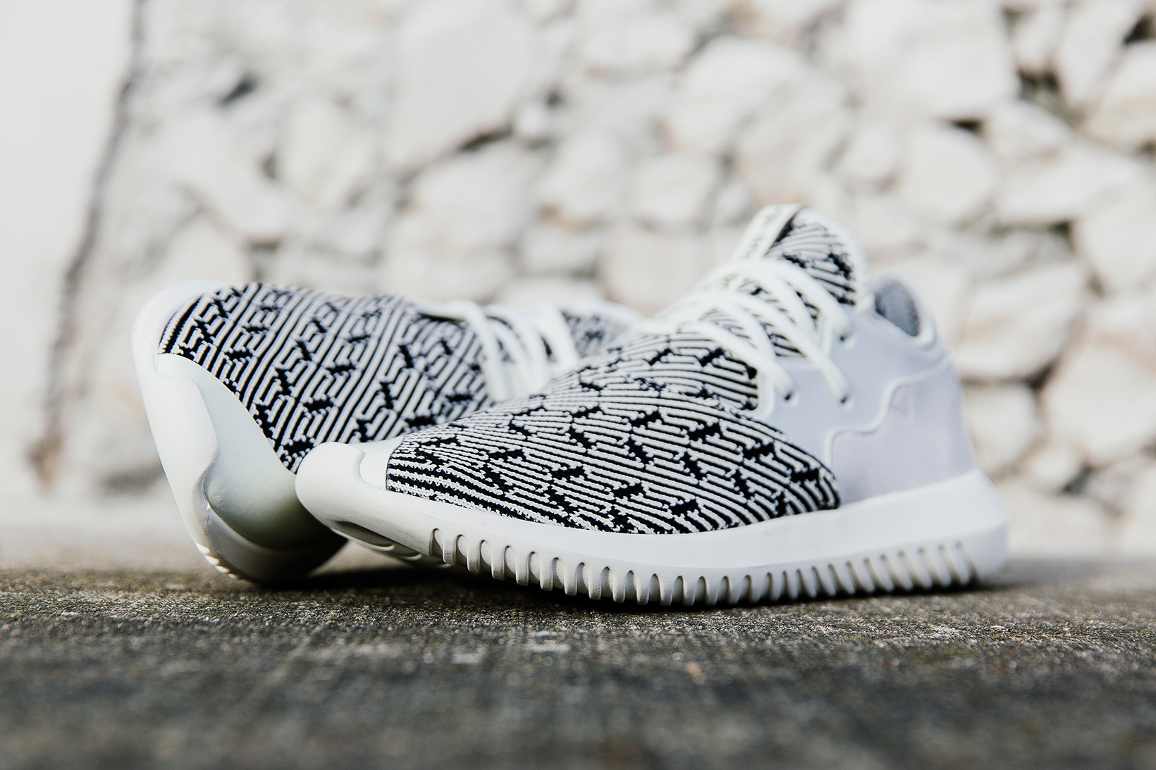 adidas Tubular Entrap Primeknit Off White - TRENDS periodical