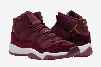 "Air Jordan 11 ""Night Maroon"" Velvet - TRENDS periodical"