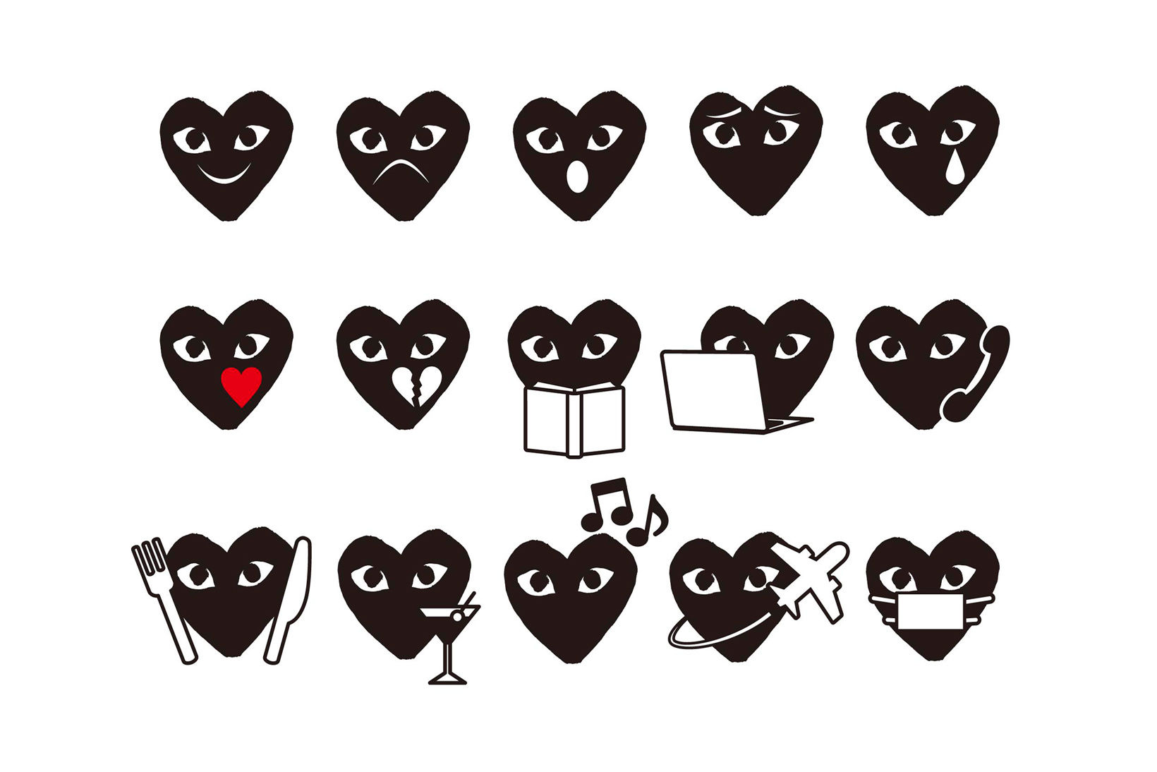 Comme des Garçons Emojis Pack - TRENDS periodical