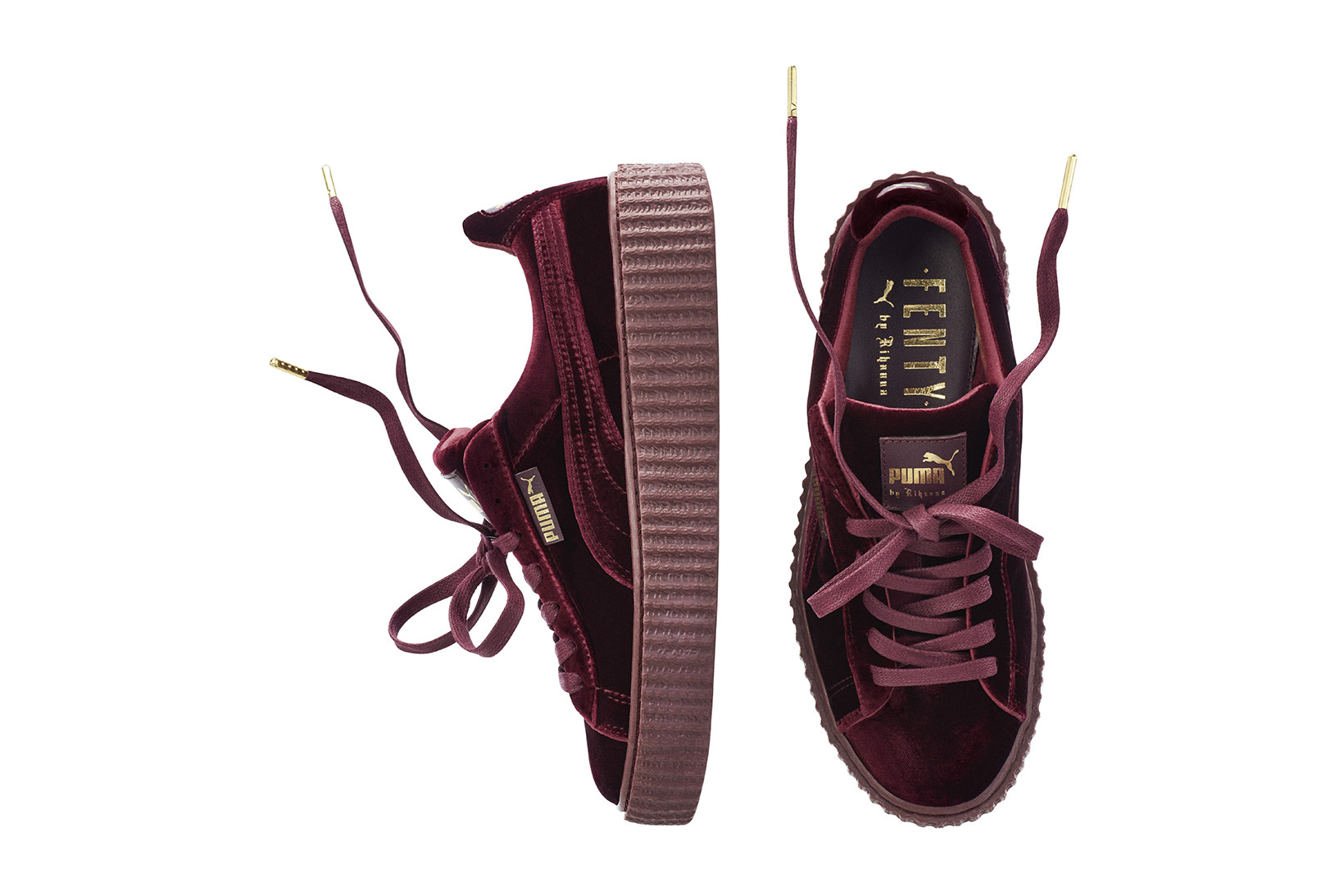 les nouvelles creepers puma by rihanna juste sublimes. Black Bedroom Furniture Sets. Home Design Ideas