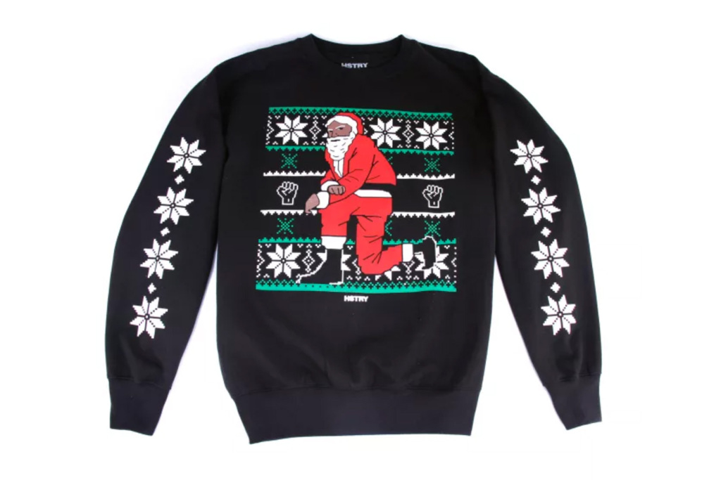 Nas lance une collection de sweats « Kneerling Santa » pour Noël