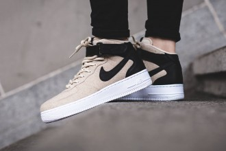 Nike Air Force 1 Mid Premium Leather Oatmeal - TRENDS periodical