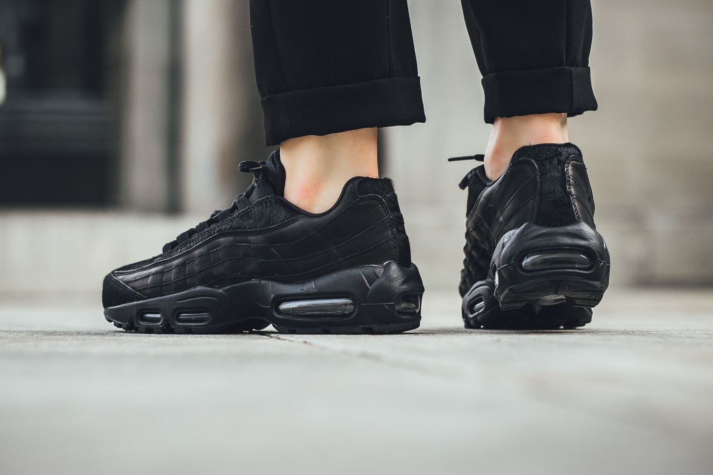 new concept 99f4b e8d3c Nike Triple Black  Nike Air Max 95 Premium ...