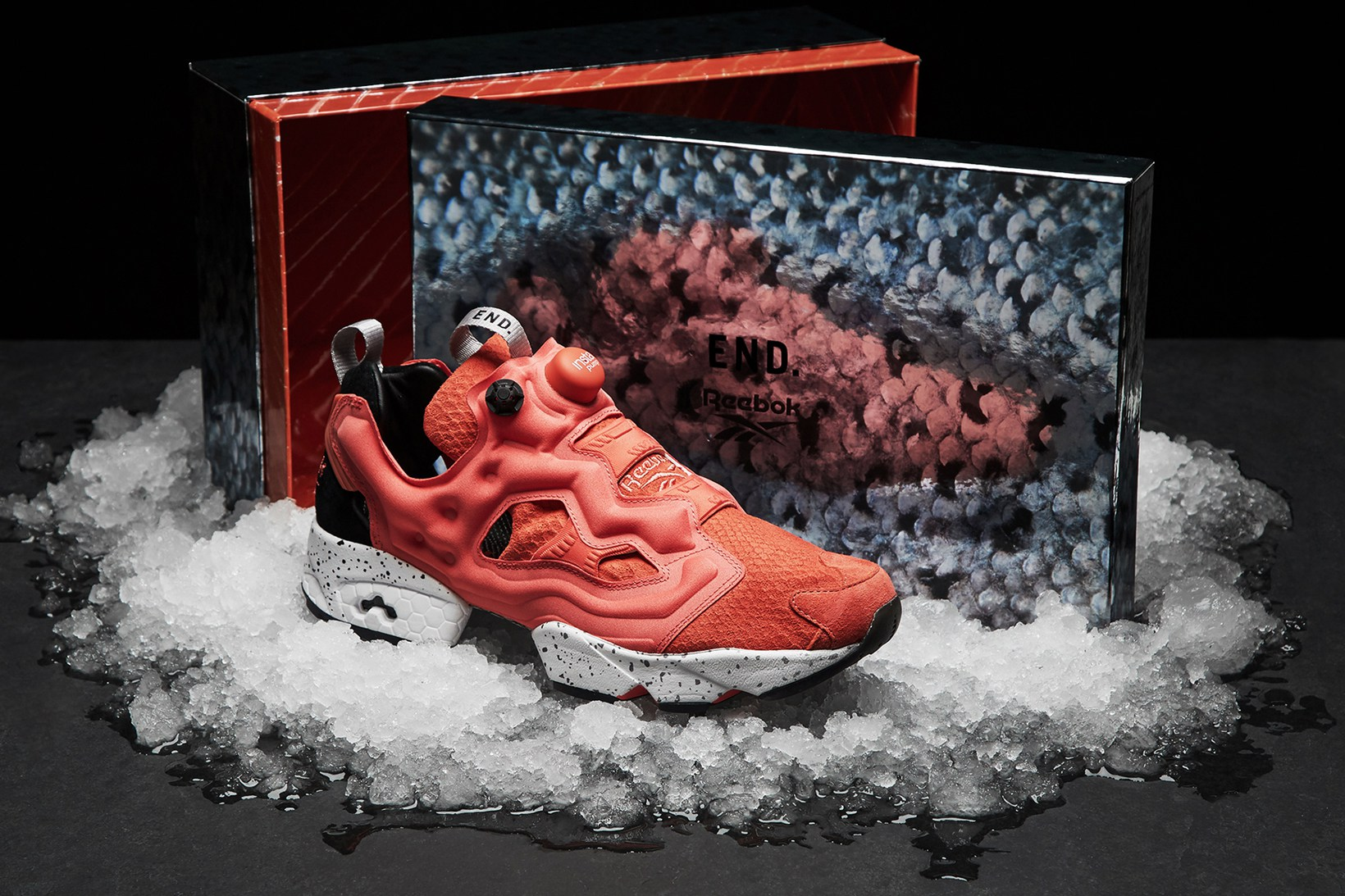 END. et Reebok imaginent la Instapump Fury « Pink Salmon »