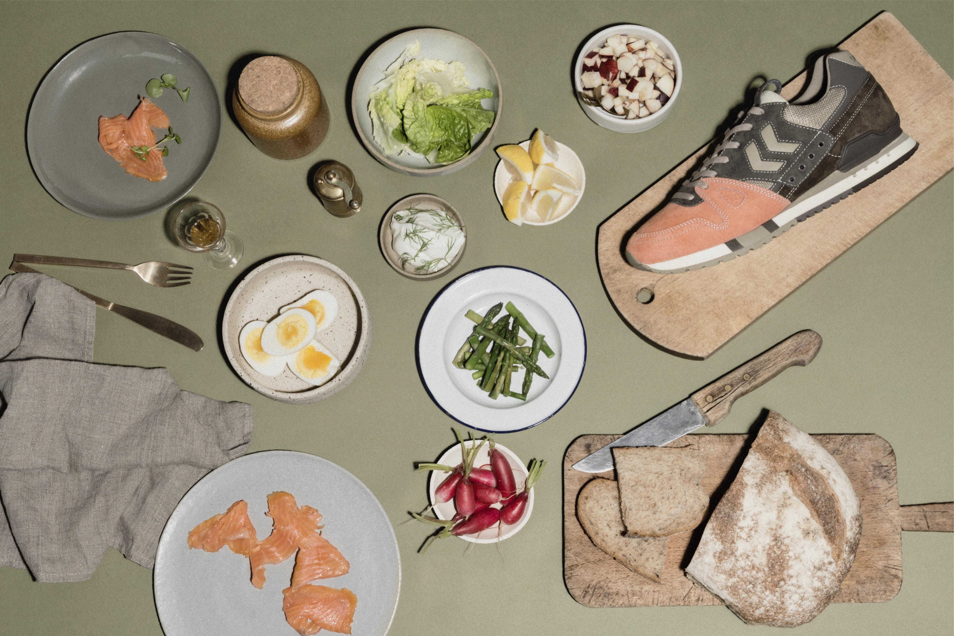 La Danish Salmon Marathona OG fraîchement imaginée par Hummel et Mita Sneakers