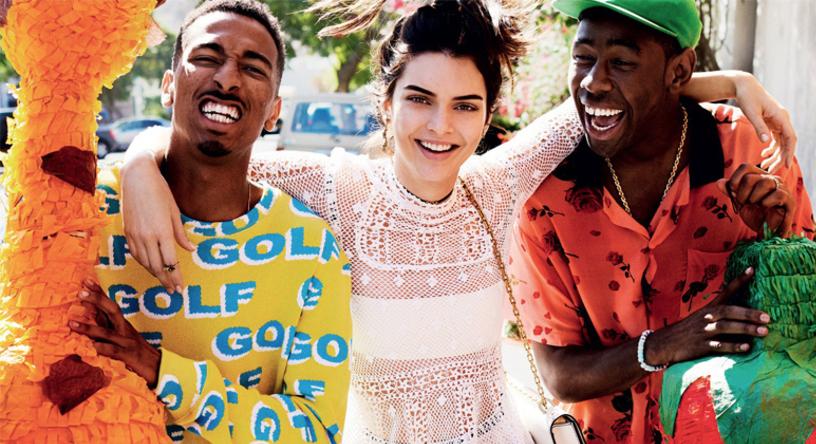 Tyler The Creator et Kendall Jenner totalement fantaisistes pour Vogue
