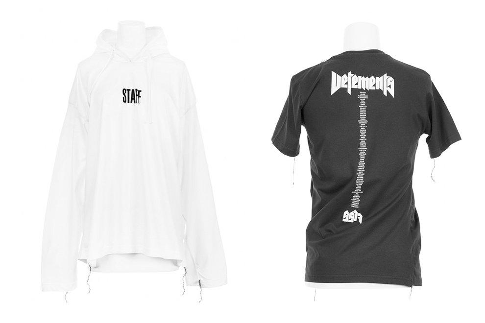Vetements dévoile un t-shirt et un hoodie inspirés des «Tour Merch»