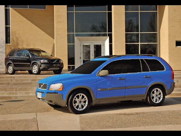 Lego XC90 with real Volvo XC90