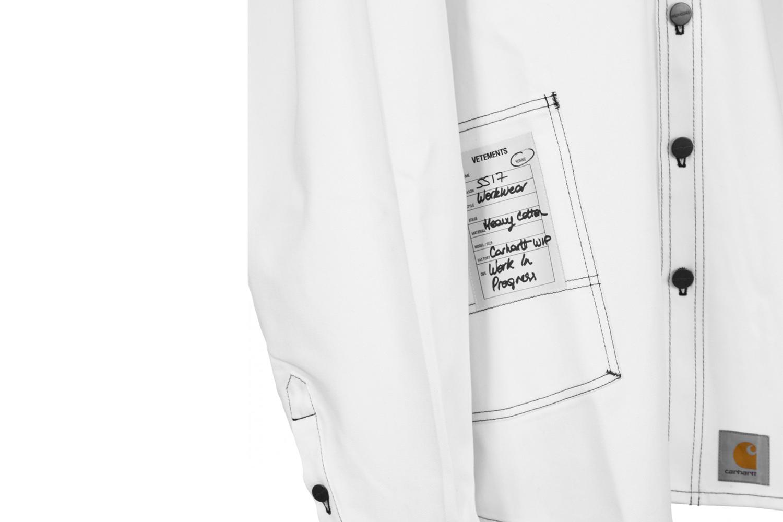 Vetements et Carhartt collaborent sur une chemise Workwear