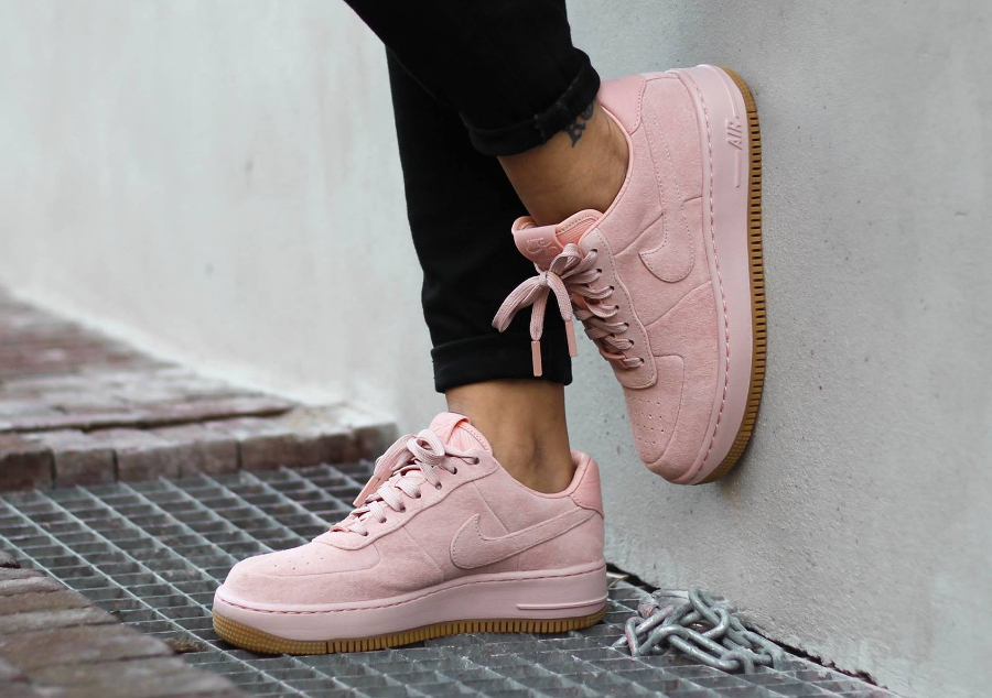nike air force 1 upstep lx roze