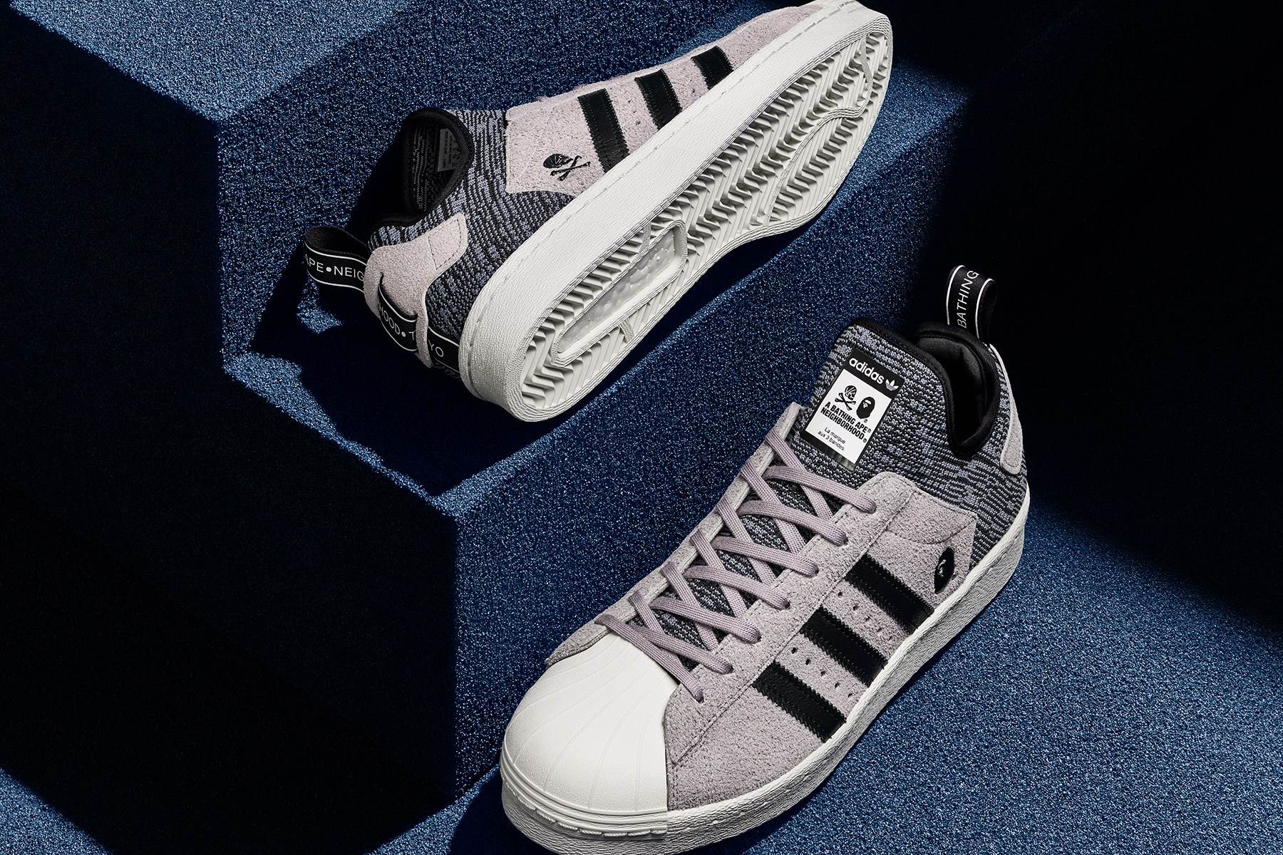 BAPE et NEIGHBORHOOD s'associent avec Adidas