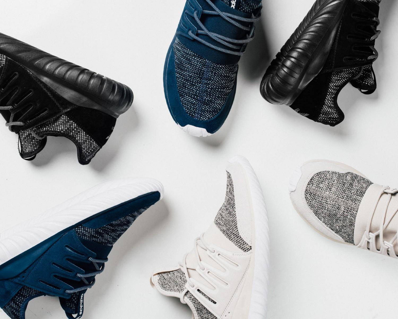 """La nouvelle Adidas Tubular Radial """"Mélange Knit"""" bien cozy"""