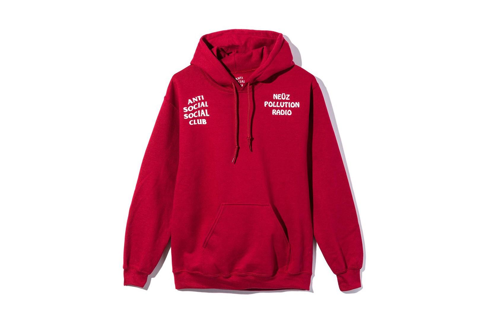 Anti Social Social Club revient avec un hoodie en collaboration avec Neuz Pollution Radio